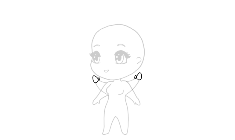 drawing chibi hands in the air