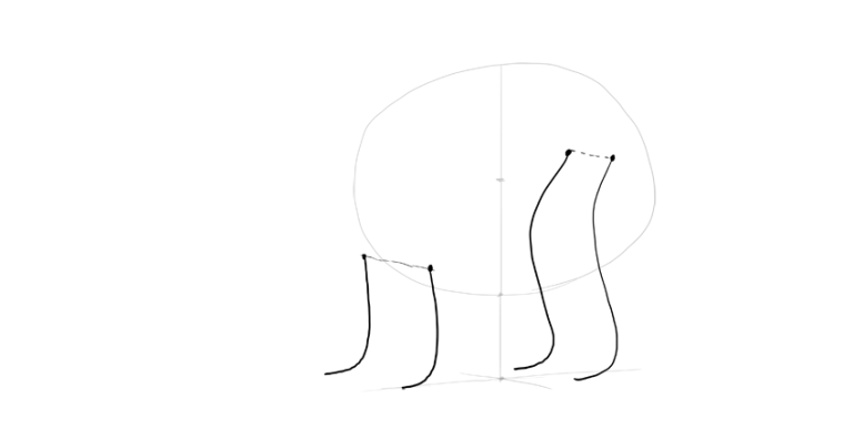 bear drawing legs rhythm lines
