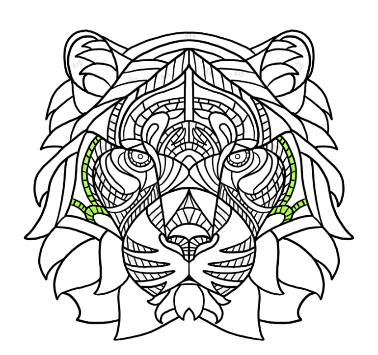 simple tiger pattern