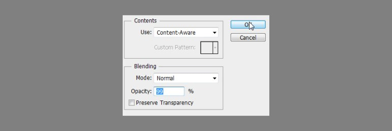 content aware fill photoshop