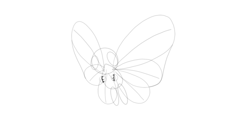 draw fingers of butterfree