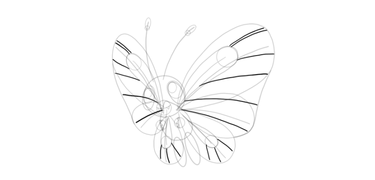 butterfree pattern on the wings