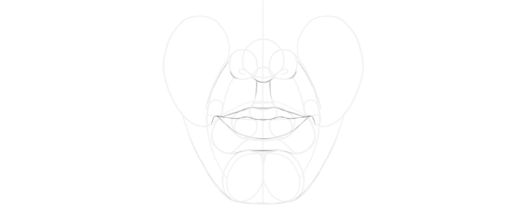 simple lip front drawing