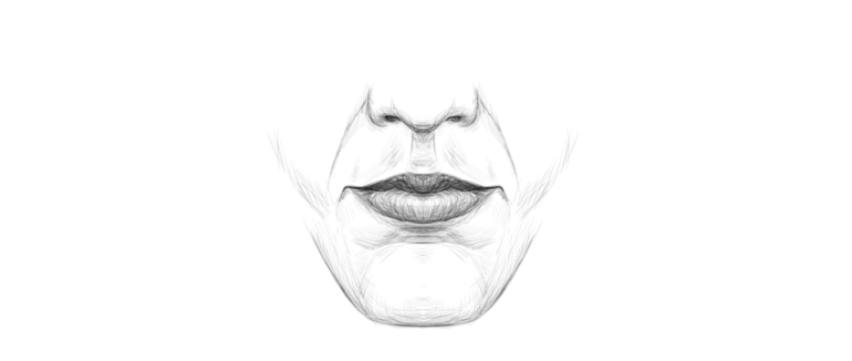 how to draw lips in front