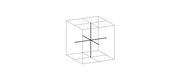 draw axes inside of a cube