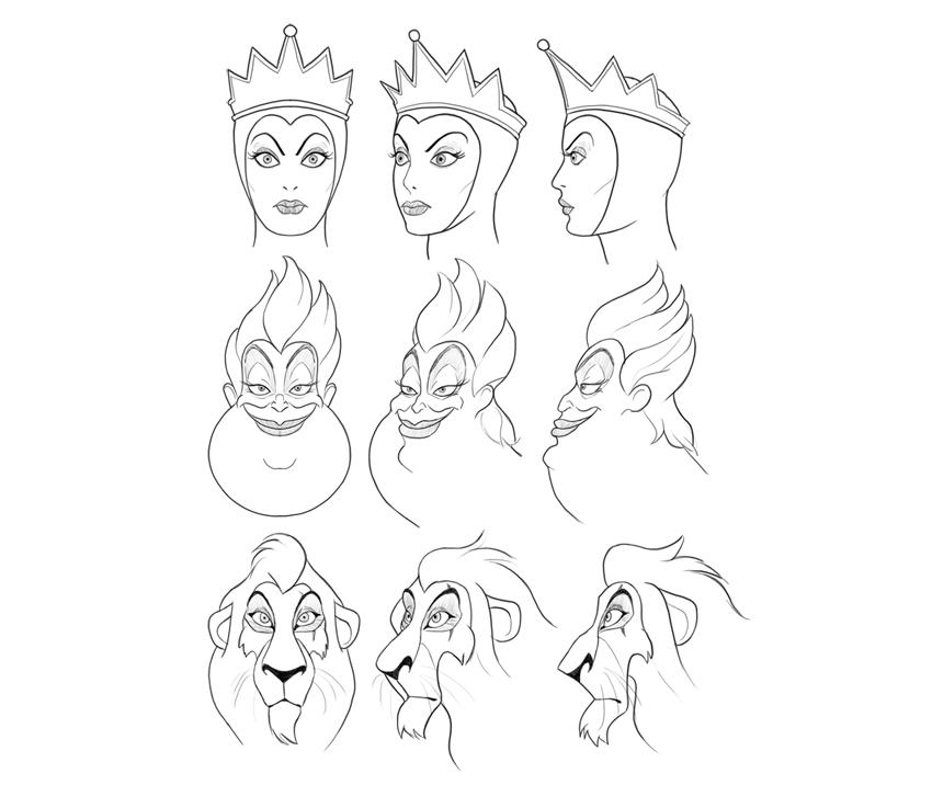 Cómo Dibujar Villanos de Disney