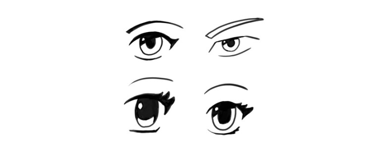 manga eyes eyebrows drawing