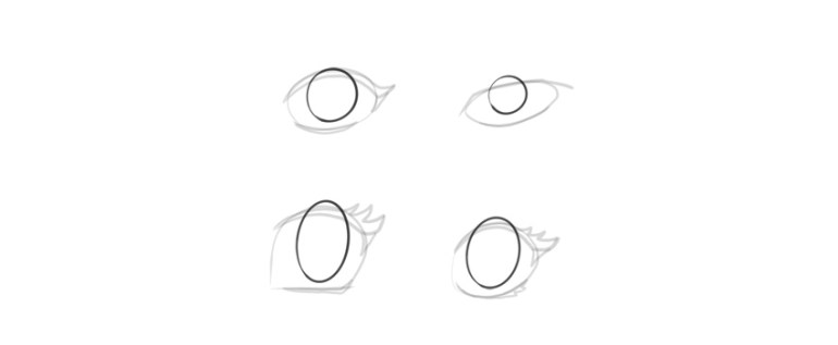 manga eyes iris shape