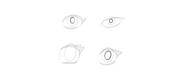 manga eyes pupil shape