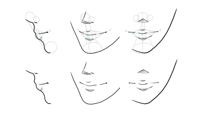 manga lips turnaround