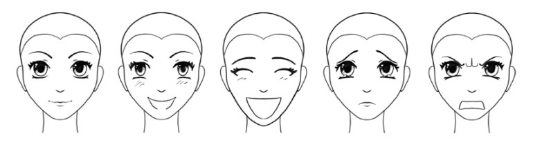 manga facial expressions how to draw