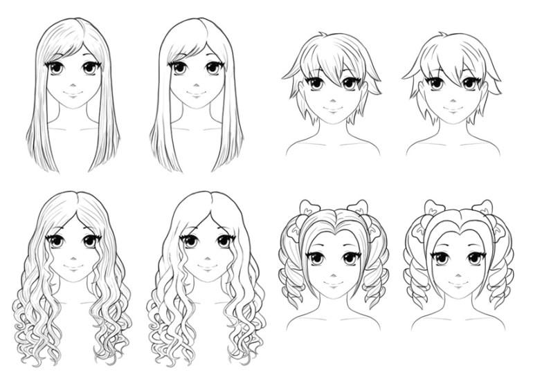 how to draw anime manga hair hairstyles