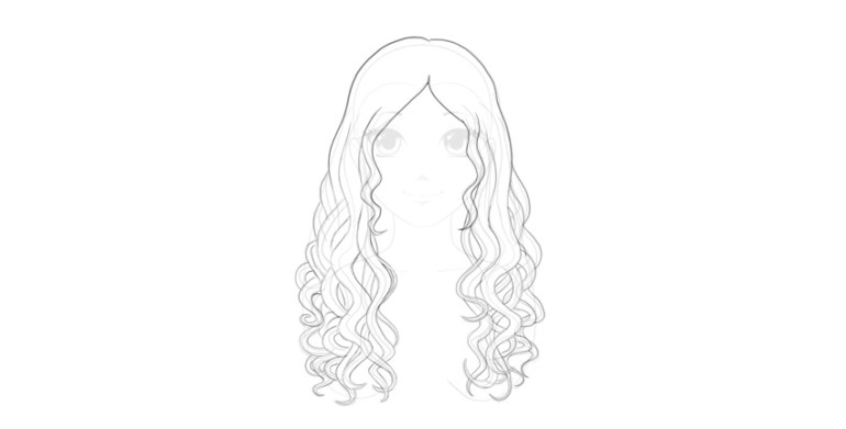 how to draw wavy hair volume