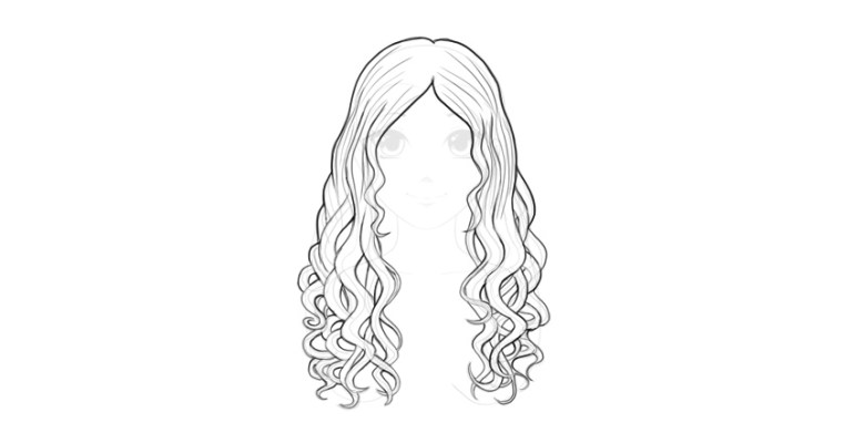 wavy hair details