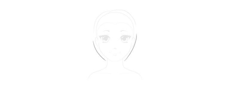 draw bottom part of short hair