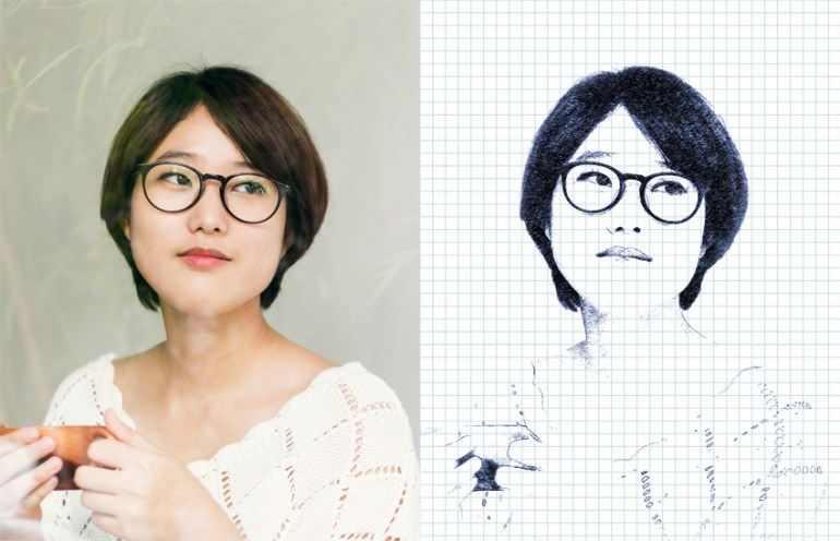 how to create ballpoint pen drawing photo effect