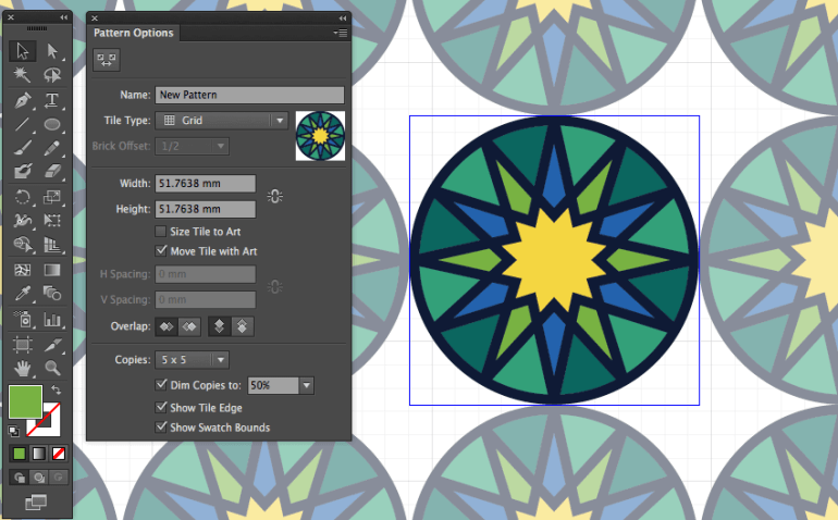 adobe illustrator object pattern make tile pattern eid fitr greeting card design miss chatz