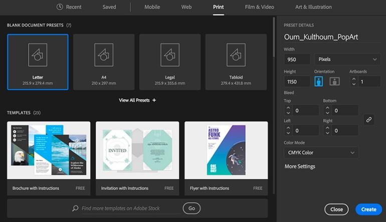Set Up New Document using Adobe Illustrator
