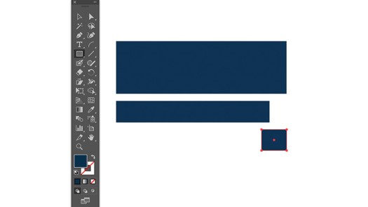 draw rectangles using smart guides to create ribbon banner