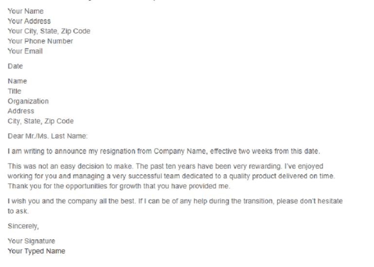 Resignation-letter