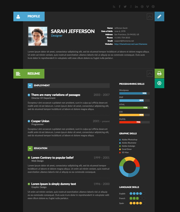 Sample Designer Resume Template ] | Sample Creative Resume Templates ...