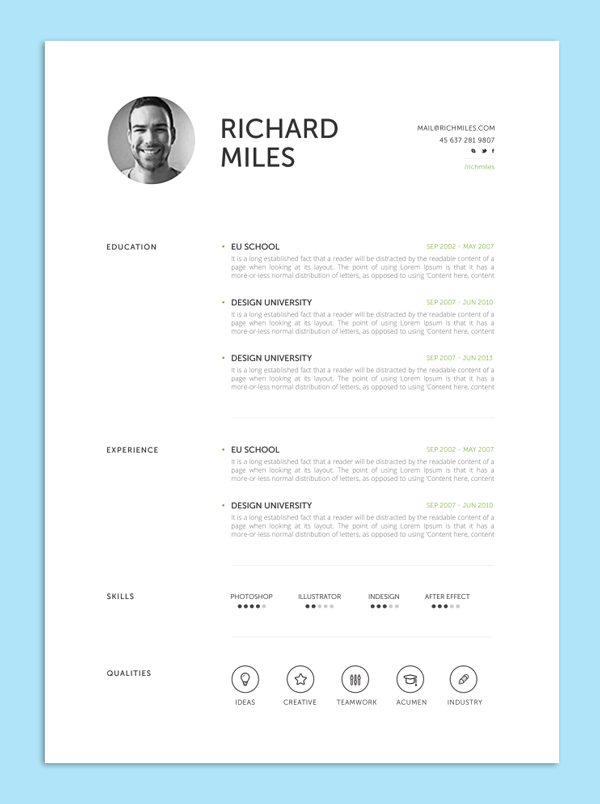 well designed resume templates