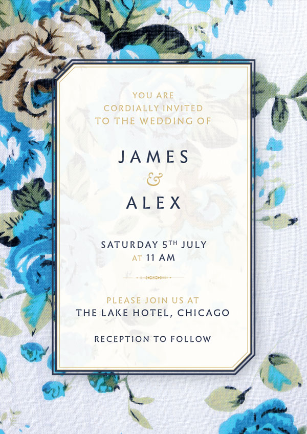Here We Ll Be Creating A Two Sided Wedding Invitation With Rustic Fl Design That S Really Simple To Customize And Make Your Own