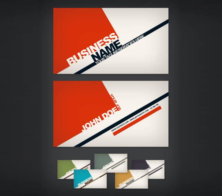 swiss style business card