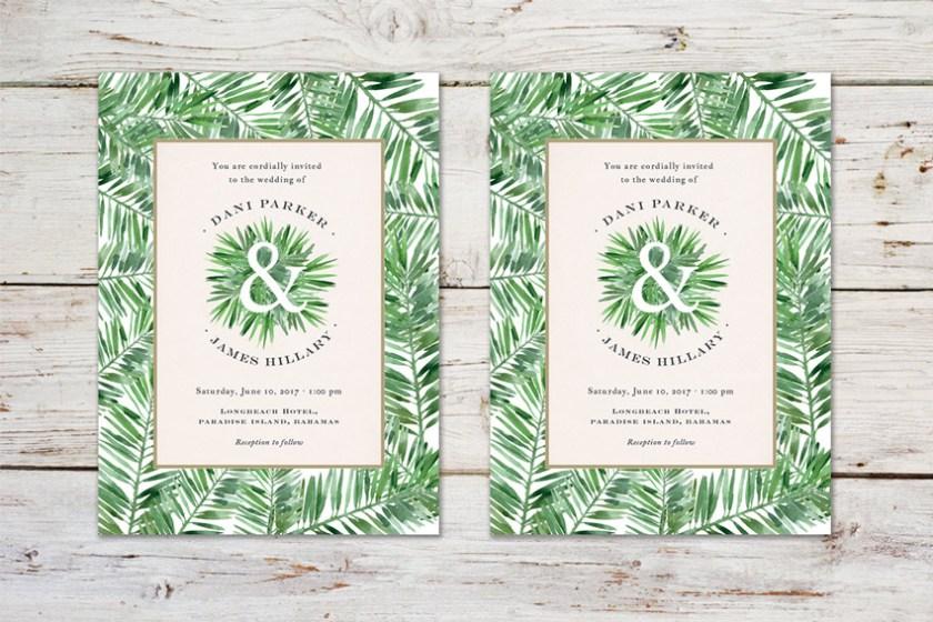 Tropcal Wedding Invitation Adobe Indesign Tutorial