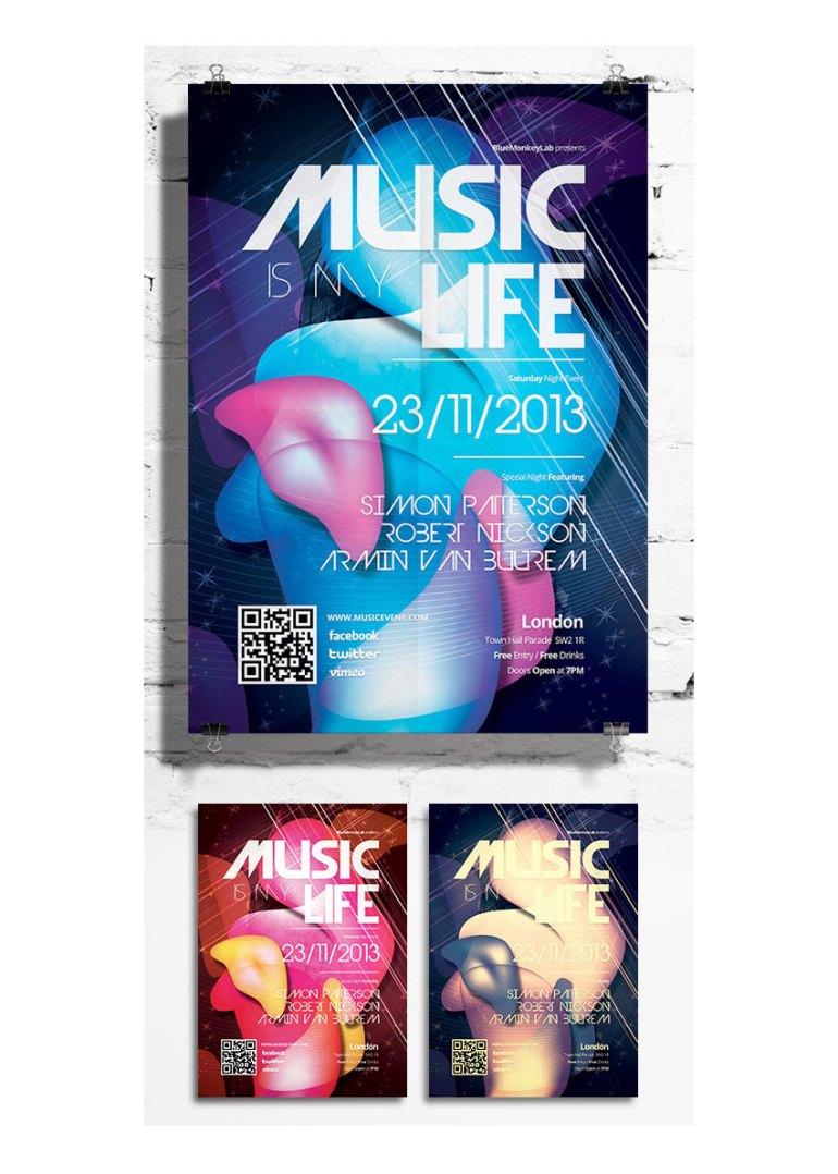 music flyer