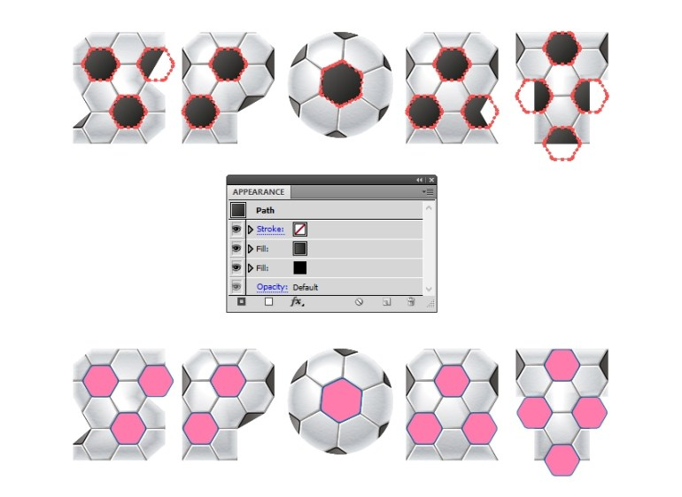 create new compound paths from hexagons