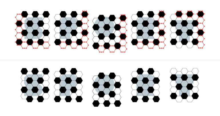 delete extra hexagons in the football pattern