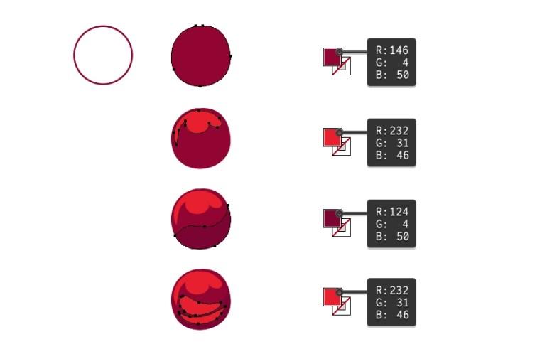 draw the cherry
