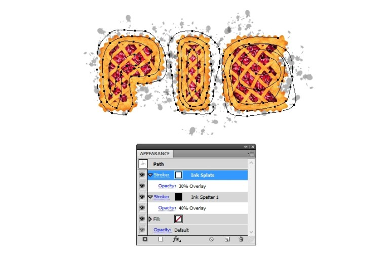 settings for white plats on pie letters
