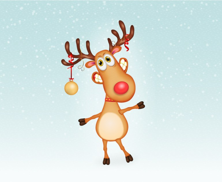 final image of reindeer cartoon character
