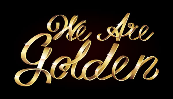 Stay Golden With This Shiny Metallic Text Art Effect In