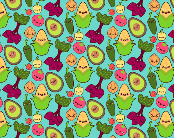 Cute Candy Corn Wallpaper Eat Your Veggies Create A Vegetable Pattern In Adobe