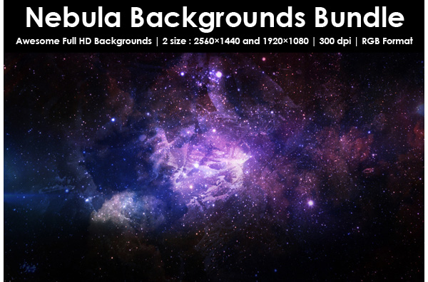 Nebula Backgrounds Bundle
