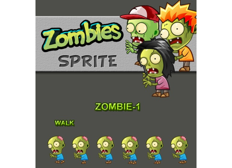 Zombies Sprite Sheets