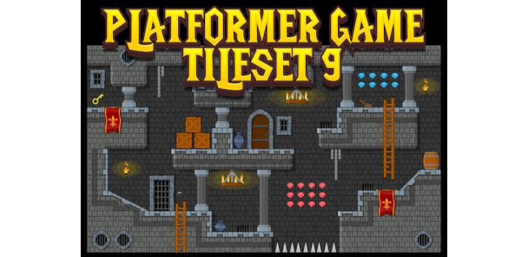 Platformer Game Tile Set 9