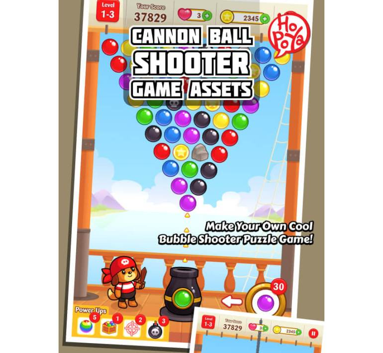 Cannon Ball Shooter Game Assets