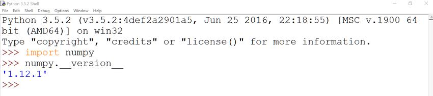 Python-IDLE-Numpy