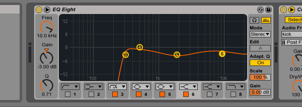 EQ on the drumloop