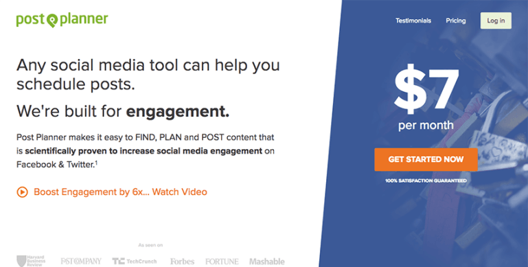 PostPlanner for sharing trending content in social media