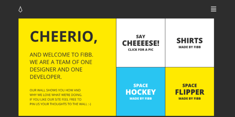 Made by Fibb flat website design example