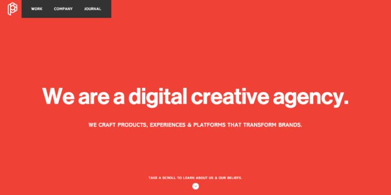 Playground Inc flat website design example