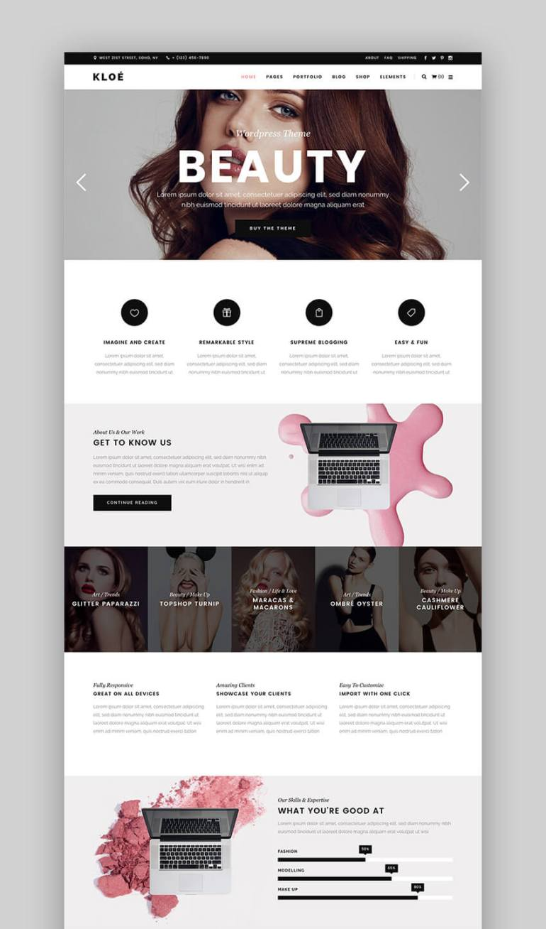 Kloe WordPress theme for fashion blogs and sites