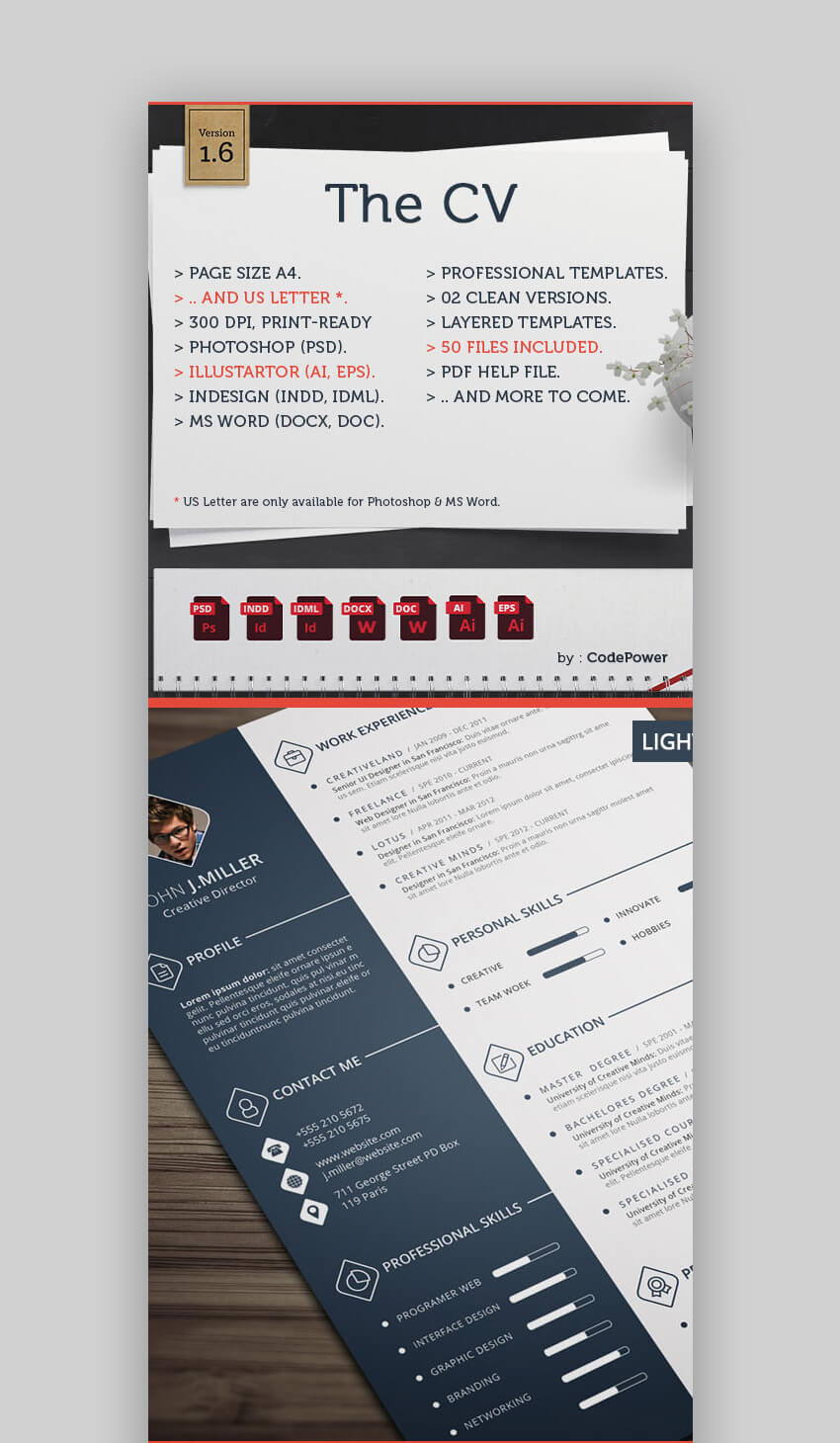 Clean Creative Resume Templates