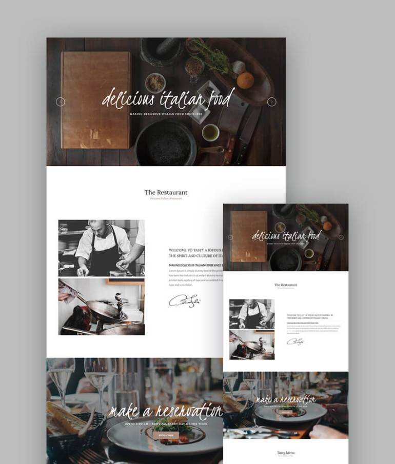 Tasty Restaurant Template