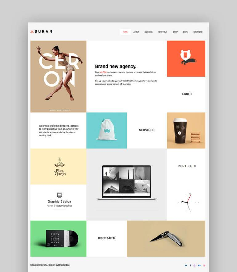 Buran WordPress Photography Theme